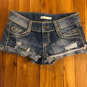 2.1 Ripped Jean Shorts